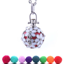 2019 New Color Mexico Chime Music Ball Locket Necklace Vintage Pregnancy Necklace for Aromatherapy Essential Oil Pregnant Women(China)