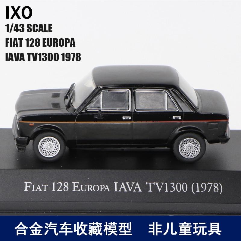 IXO 1/43 Fiat 128 Europa IAVA Tv1300 1978 Alloy Master Car Model Decoration Toy