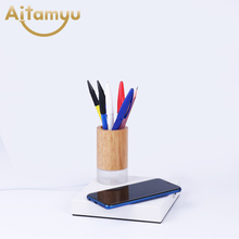 Wireless Charging Table Lamp With Pencil Case Creative Nordic Personality Modern Style Bedside Bedroom Reading Study