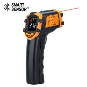 Image 5 - ميزان الحرارة الرقمي دون لمس, جهاز قياس حرارة الرطوبة بالليزر و تصوير البيرومتر IR termometro وتنبيه ضوء LCD