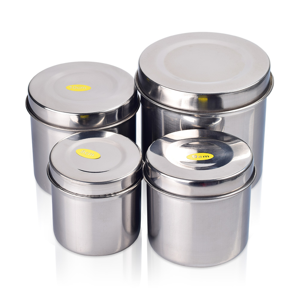 Stainless Steel Alcohol Disinfection Box Tattoo Medical Cotton Disinfection Container Tank Nails Disinfection Tattoo Accessories