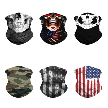 3D Seamless Skull Balaclava Turban UV Protection Head Scarf Motorcycle Cycling Face Mask Hiking Fishing Bandana Tube Headband bjmoto cool skeleton skull motorcycle ski headband sport outdoor neck face mask mtb racing cycling windproof scarf balaclava