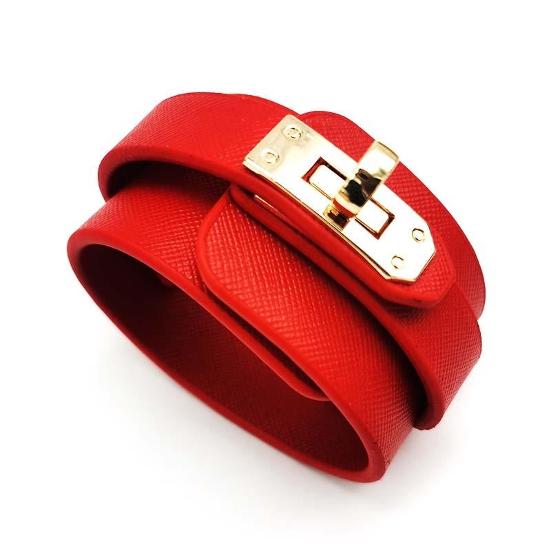 6 Pcs/Lot Wholesale Leather Bracelet For Women's Retro Punk Casual Bracelet Jewelry Accessories