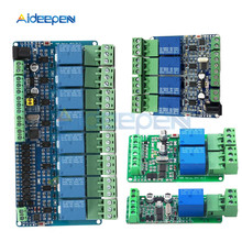 цена на 1PCS Modbus rtu 1 2 4 8 channel Relay Module 485 TTL Communication 1 2 4 8 Channel Input Relay Module 12V