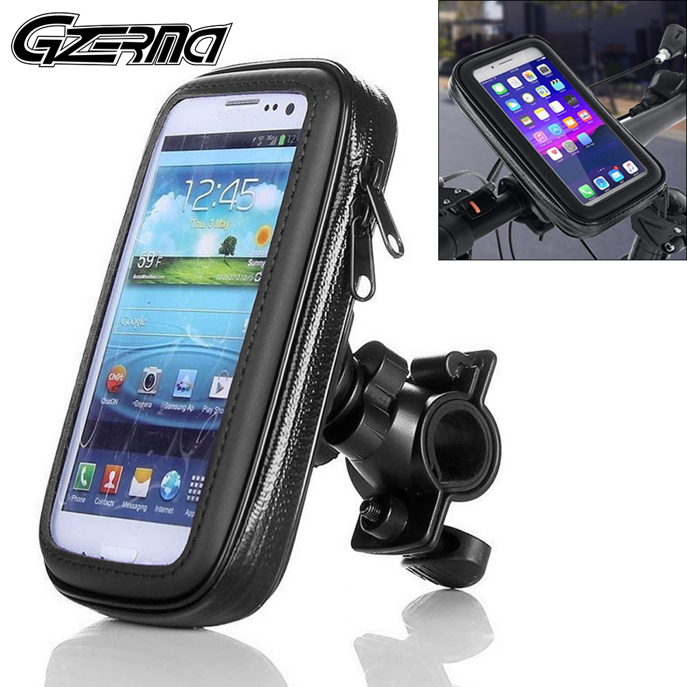 Outdoor Waterproof Motorcycle Bicycle Phone Holder For BMW Handlebar Mount Mobile Phone Holder Case For iPhone X 11 8 7 6 Plus image
