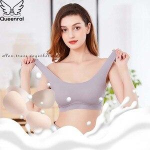 Queenral Seamless Bras For Women Underwear Push Up Bralette Wire Free Brassiere Lingerie BH Plus Size Bra Female Intimate