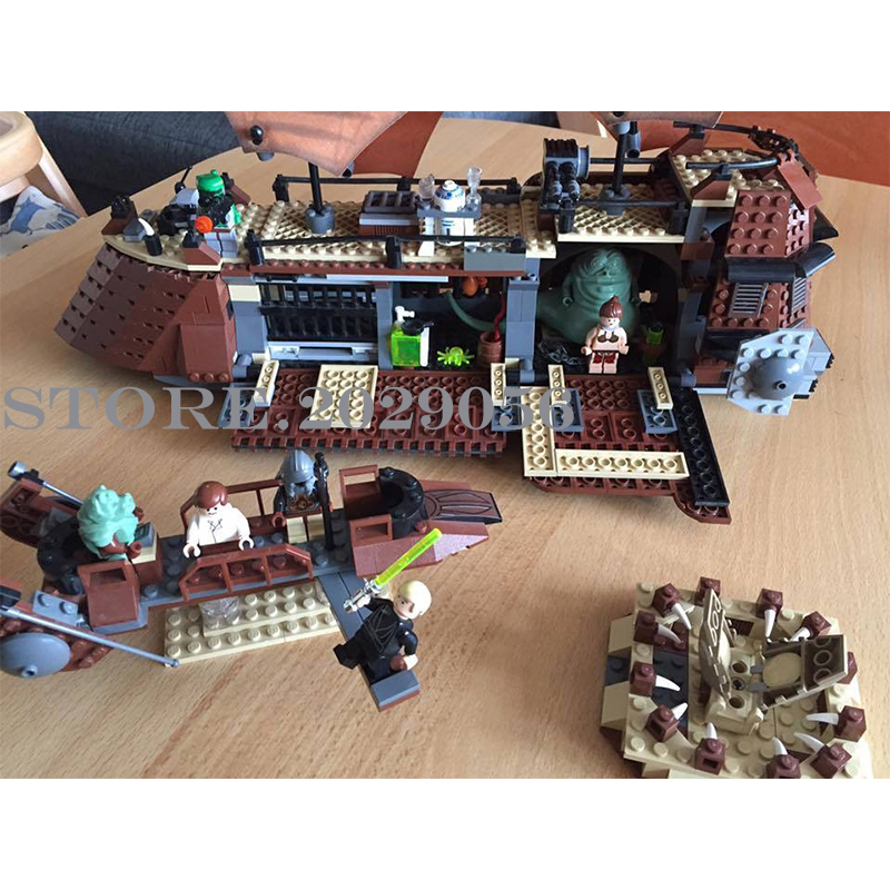 05090, Звездные войны, Парусная баржа Jabba's, Парусный корабль, 821 шт, корабельный стиль, строительные блоки, совместимые с 6210 игрушками для детей