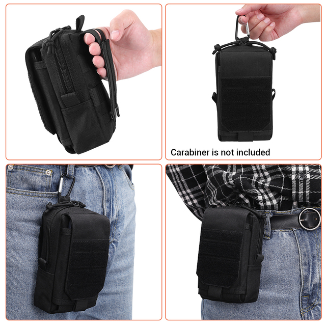 1000D Tactical Molle Pouch Military Waist Bag Outdoor Men EDC Tool Bag Vest Pack Purse Mobile