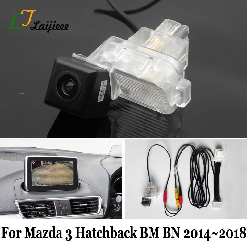 Для Mazda 3 Mazda3 хэтчбек BM BN 2014 2015 2016 2017 2018 OEM экран совместимый HD задний вид резервная камера заднего вида сделай сам так легко