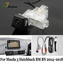 Para mazda 3 mazda3 hatchback bm bn 2014 2015 2016 2017 2018 tela oem compatível hd câmera de visão traseira backup reversa diy tão fácil