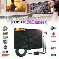 טלוויזיה אנטנה 960 מיילס טלוויזיה אנטנה פנימית 1080p טלוויזיה 4K אנטנה Amplified דיגיטלי HDTV (2)