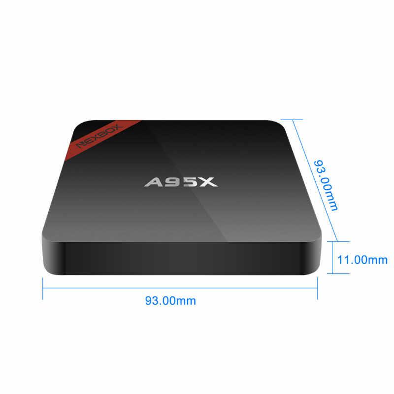 Android 7.1 tv, pudełko NEXBOX procesor Amlogic S905W 2G 16G czterordzeniowy 2.4G Wifi H.265 HDR 4K odtwarzacz multimedialny android tv zestaw pudełek Top box