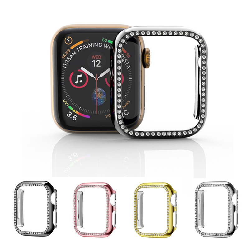 Crystal diamond Case for <font><b>apple</b></font> <font><b>watch</b></font> 4 40/44MM Frame Protector Bumper Cover for iwatch <font><b>3</b></font> 2 1 <font><b>38</b></font>/42MM for <font><b>apple</b></font> <font><b>watch</b></font> accessories image