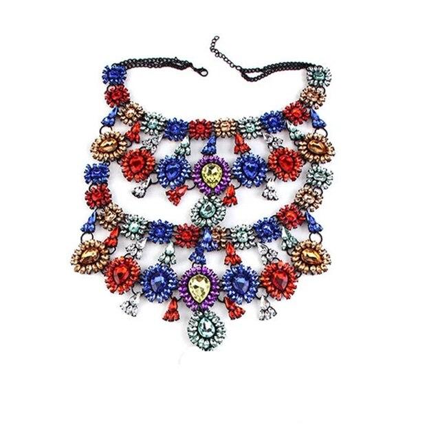 Купить женское многослойное ожерелье стразы массивное ожерелье чокер картинки