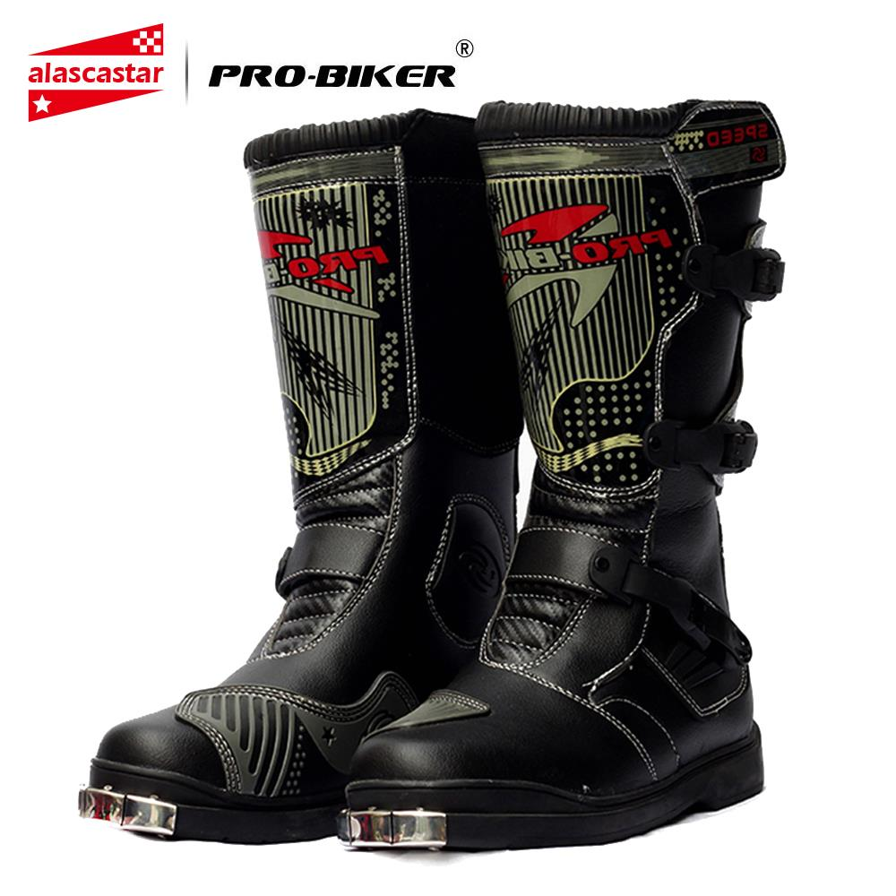 PRO-BIKER Motorcycle Boots Men Waterproof PU Botas Moto Boots Motocross Motorcycle Shoes Protection Motorcycle Long Thigh Boots