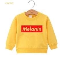 Детская толстовка с надписью «melanin»; Милая черная одежда