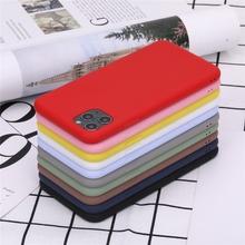 Cukierki solidna do telefonu skrzynka dla OPPO A93 A92 A92s A91 A72 A73 5G Ultra cienki silikonowy matowe etui z TPU tanie tanio E-KINLIN CN (pochodzenie) Pół-owinięte Przypadku Candy Solid Color Silicone Phone Case Matte TPU Ultra Thin Back Cover