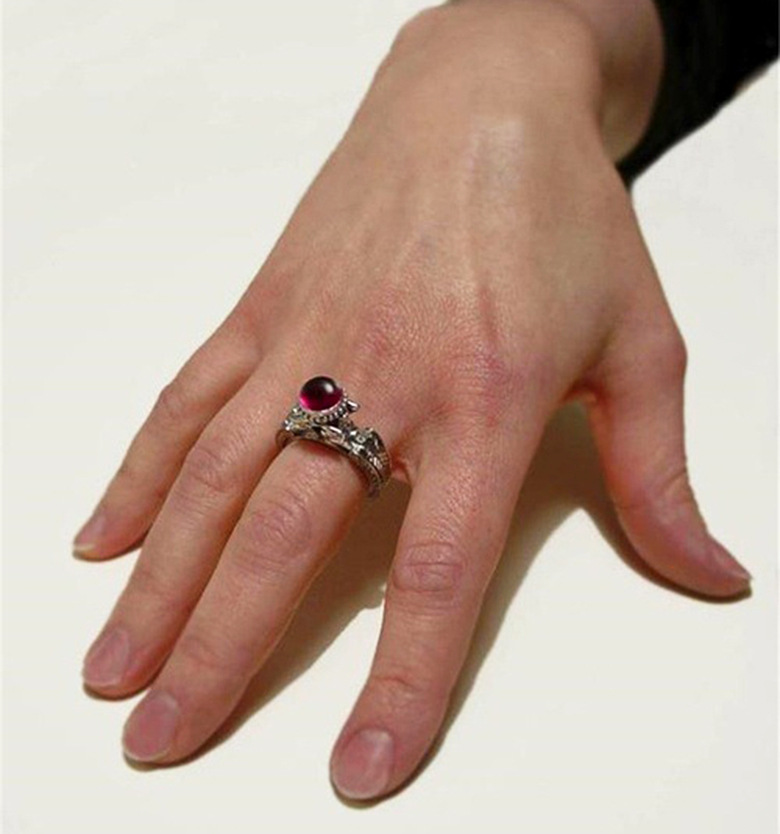Timbre 925 argent diamant rubis bague pour femmes et hommes topaze rouge rubis Cirle Anillos Bizuteria mariage pierre précieuse argent 925 bijoux - 2