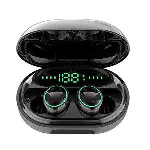 C5 TWS IPX8 Bluetooth écouteurs Sport stéréo son contrôle tactile bruit annuler casque de jeu avec 3500mAh batterie d'alimentation