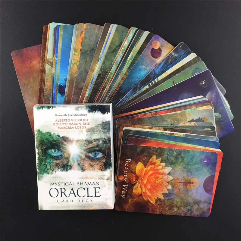 Mystical Shaman  Oracle  Cards Deck English Mysterious Fate Divination Tarot Cards Board Games For Women Party Family