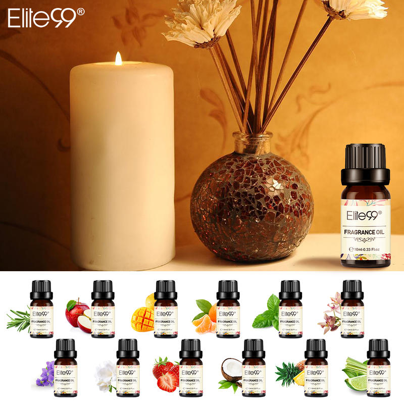Elite99 10ml Flower Fruit Fragrance Oil Gift Set 8 Pieces/lot Essential Oil For Aromatherapy Humidifier Strawberry Jasmine Oil