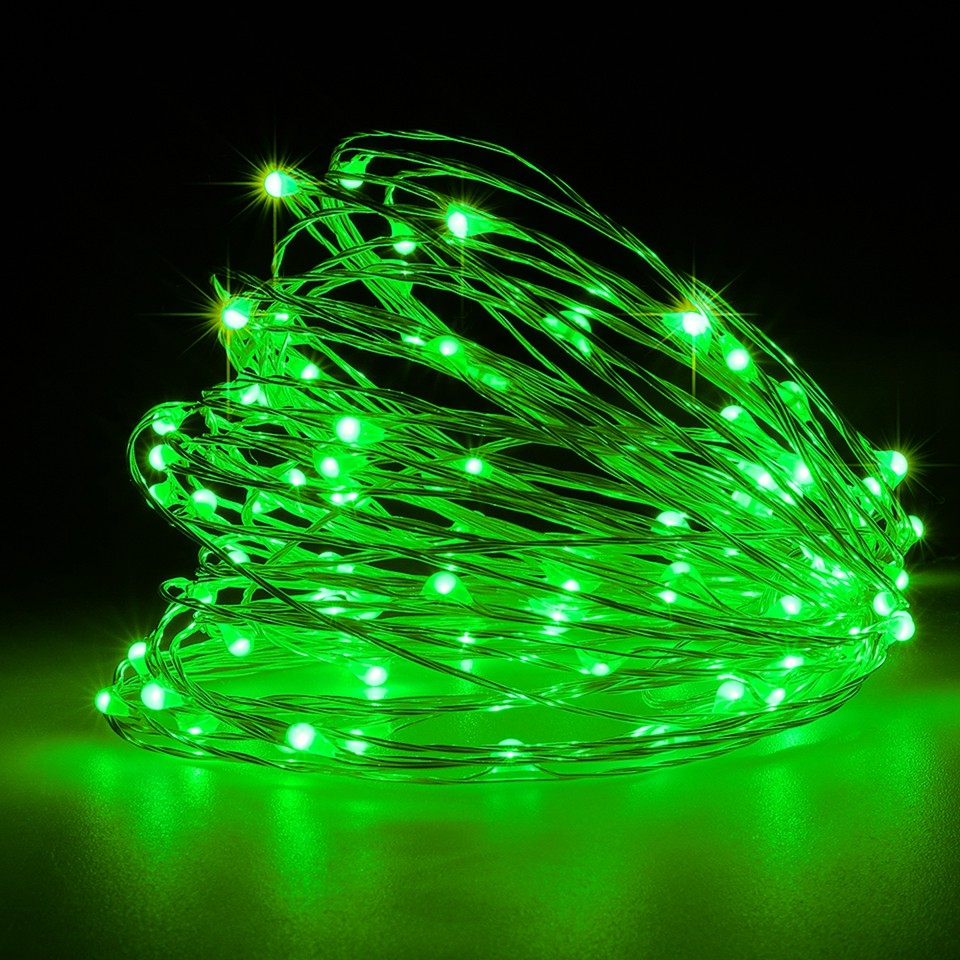 Dimmable 11m/21m Green LED Outdoor Solar String Lights Fairy Holiday Christmas Party Garland Solar Garden Waterproof Lights