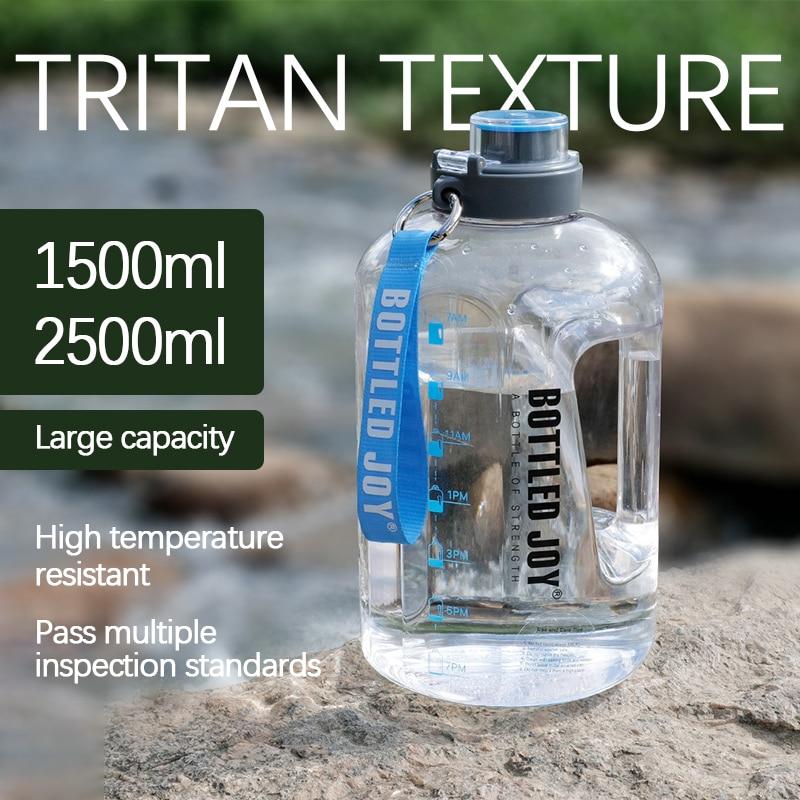 2.5L большой Ёмкость Спортивная бутылка для питьевой воды прогулок, занятий спортом и путешествий; Бутылка восхождение Тур отдых спортивная ...