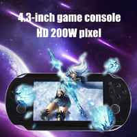 Portable Handheld Game Console Large Screen 2000 Classical Games HD Camera Player AV Output Video Game Console Toys Gifts