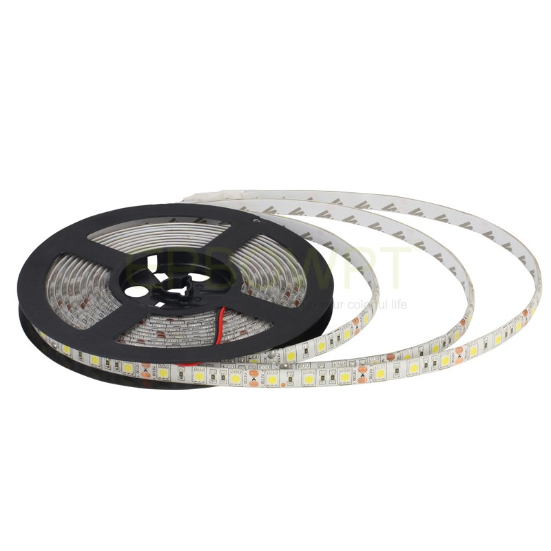 Single Color <font><b>LED</b></font> Strip Lights SMD 5050 <font><b>5M</b></font> 300LEDs DC 12V Waterproof Outdoor Flexible Lamp Band Red Green Blue Warm Cool White image