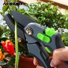 AI-ROAD Shears Pruner Secateurs Pruning Scissors Bypass Sharpener Clippers Garden Tool Bonsai Flower Cultivating Snip Floral
