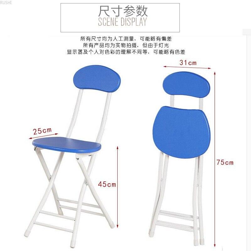 Chaise pliante ménage à manger tabouret étudiant dortoir simple ordinateur chaise pliante ronde tabouret chaises salle à manger moderne