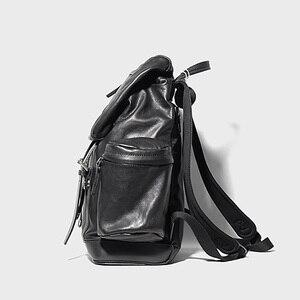 Image 4 - AETOO skórzany plecak ze skóry, skórzany plecak na ramię, męski skórzany plecak podróżny