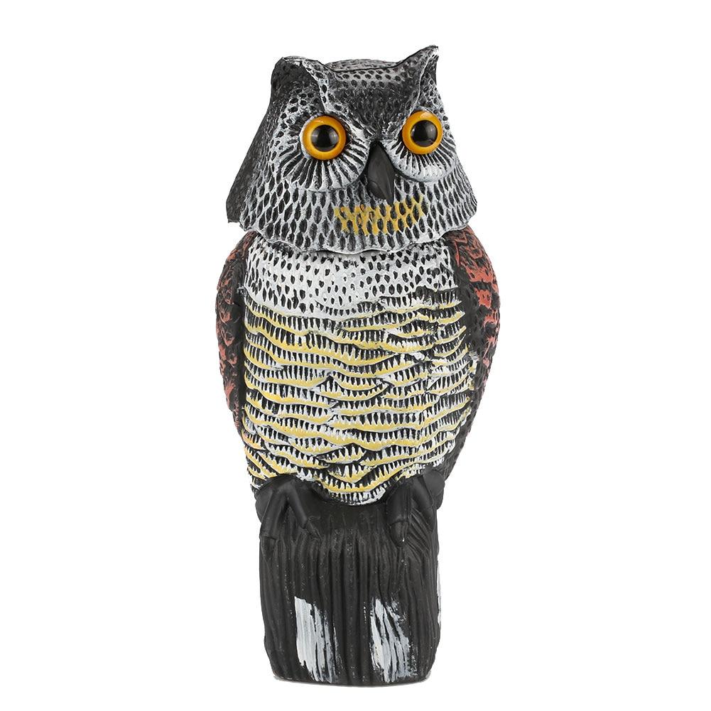 Abweisend Vogel Eule Lockvogel Realistische Scarecrow Schaukel Baum PE Kreative