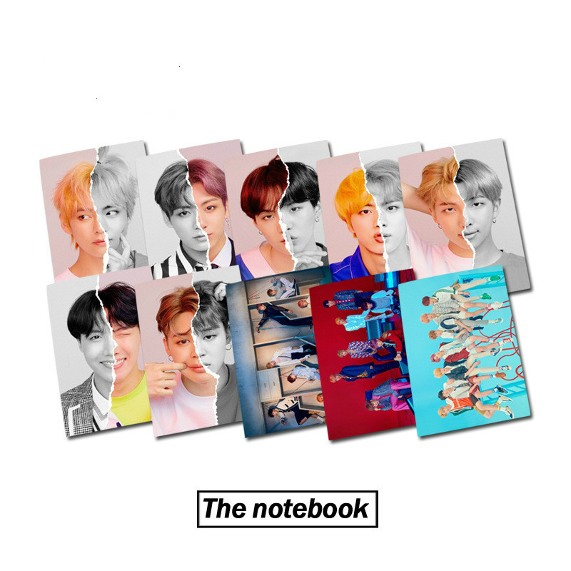 K pop Bangtan boys 2019 new album with the same paragraph 24 pages <font><b>notebook</b></font> copybook diary kpop New album card stray kids kpop image