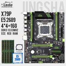 X79 pマザーボードlga 2011コンボw/ E5 2689 cpuのセット、4 Ch 16ギガバイト = 4 × 4ギガバイトDDR3 ram 1333mhz DDR3 ecc regサポートUSB3.0 SATA3 M.2
