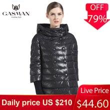 Gasman 冬黒人女性のコートダウンファッションブランド女子ショートダウンジャケットコートパーカー女の子防風フグジャケット 166111 2019