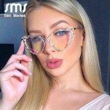 TR90-Gafas de corte de cristal Retro Para hombre y mujer, lentes de ordenador de moda óptica, Anti-azul claro negro rojo