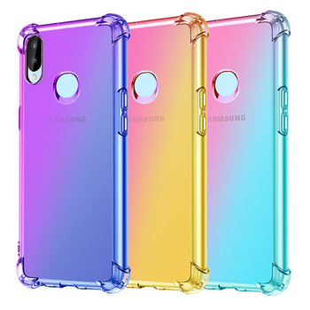 Fashion Gradient Colorful Phone Case For Samsung A10 A20 A30 A40 A50 A60 A70 A80 A90 A2 Core A6 A8 A7 A9 S E Star Soft TPU Cover 1