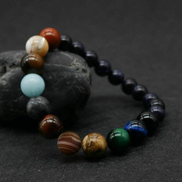 Multicoloured Stone Bead Bracelet