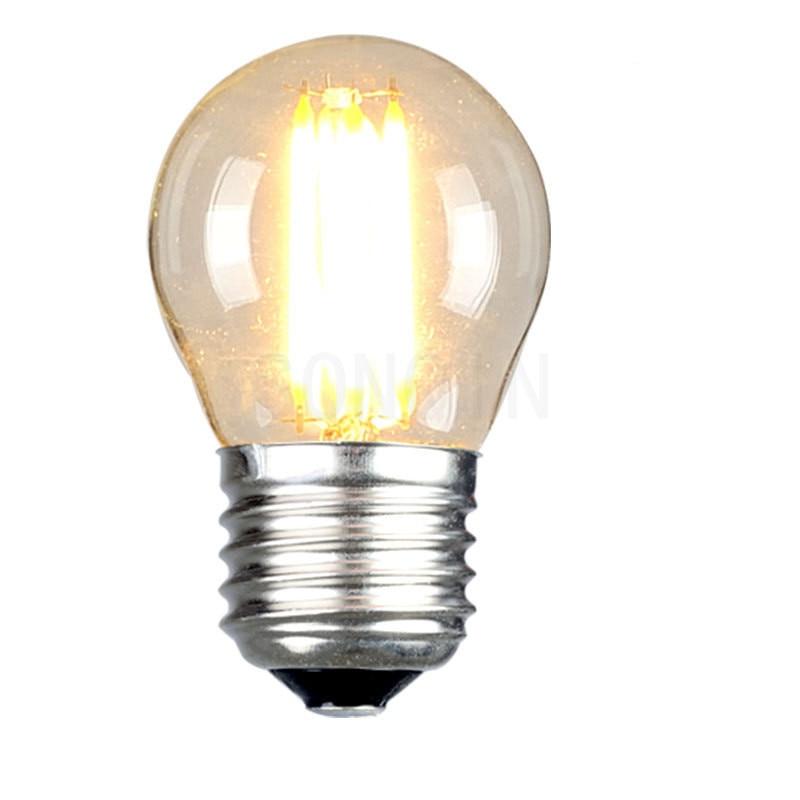 G45 светодиодный Лампа 220V 5 Вт, 7 Вт, 9 Вт, 12 Вт, 15 Вт cob Мини светодиодный E27 лампы светильник Стекло 360 градусов угол луча Светодиодный точечный с...