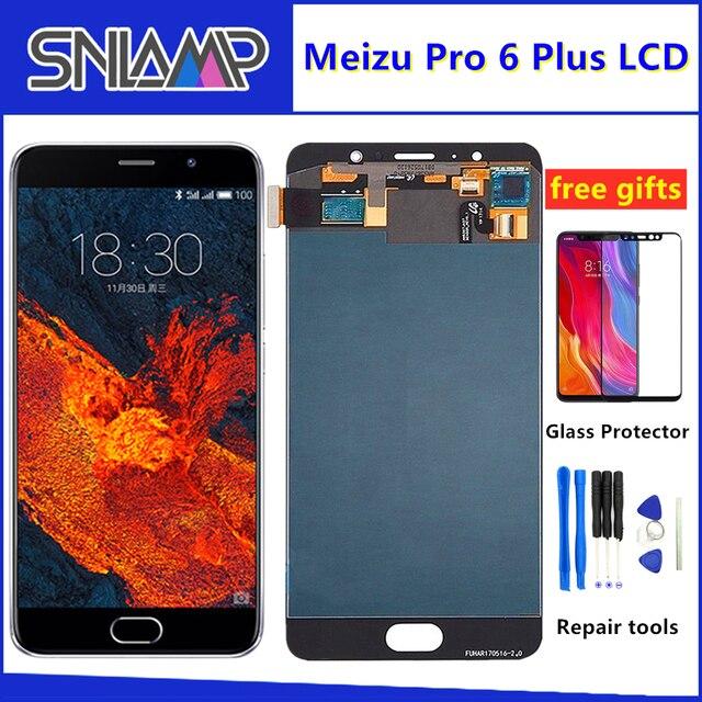 SNLAMP ل 5.2 Meizu برو 6 زائد شاشة الكريستال السائل شاشة + محول رقمي يعمل باللمس مع إطار ل Pro6 زائد AMOLED عرض
