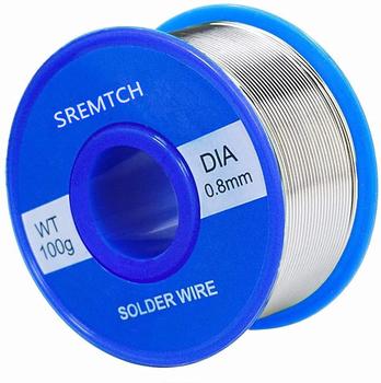 100g nowy cyna ołów rdzeń żywiczny drut lutowniczy 0 8mm 2 Flux Reel linia do spawania drut lutowniczy Roll tanie i dobre opinie NONE CN (pochodzenie)