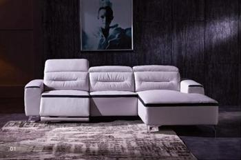 Genuine leather sofa sectional living room sofa corner home furniture couch L shape functional recliner sofa