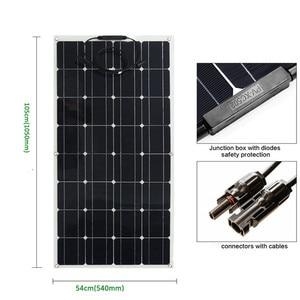 Image 4 - Panel solar monocristalino para RV/barco/coche, cargador de batería solar de 12v, 300w, 3 uds.