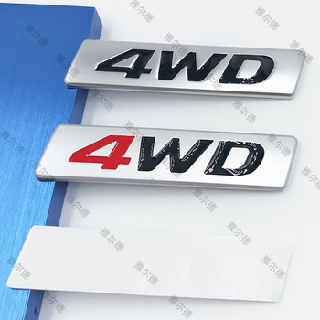 1pcs 3D Chrome Metal Sticker 4WD Emblem 4X4 Badge Decal Car Styling For Honda CRV Accord Civic Suzuki Grand Vitara Swift SX4 metal 3d car feder trunk sticker vtec logo badge decal chrome accessories for honda civic accord odyssey spirior crv car styling