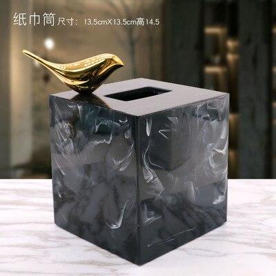 Полимерная мраморная бумажная коробка под салфетку Европейская ретро книжная коробка гостиная журнальный столик Ресторан многофункциональное бумажное полотенце ванная комната Ac - Цвет: E