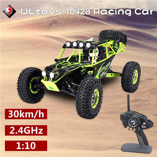 Wltoys 10428 Rc Car 1:10 Radio Control Car 2.4G 4WD RC Crawler Model Vehicle High Speed Monster Crawler RC Car Toys For Kids