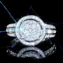 USTAR Luxury  engagement rings for women fashion jewelry full Inlay tiny shiny Cubic zirconia wedding rings female anel