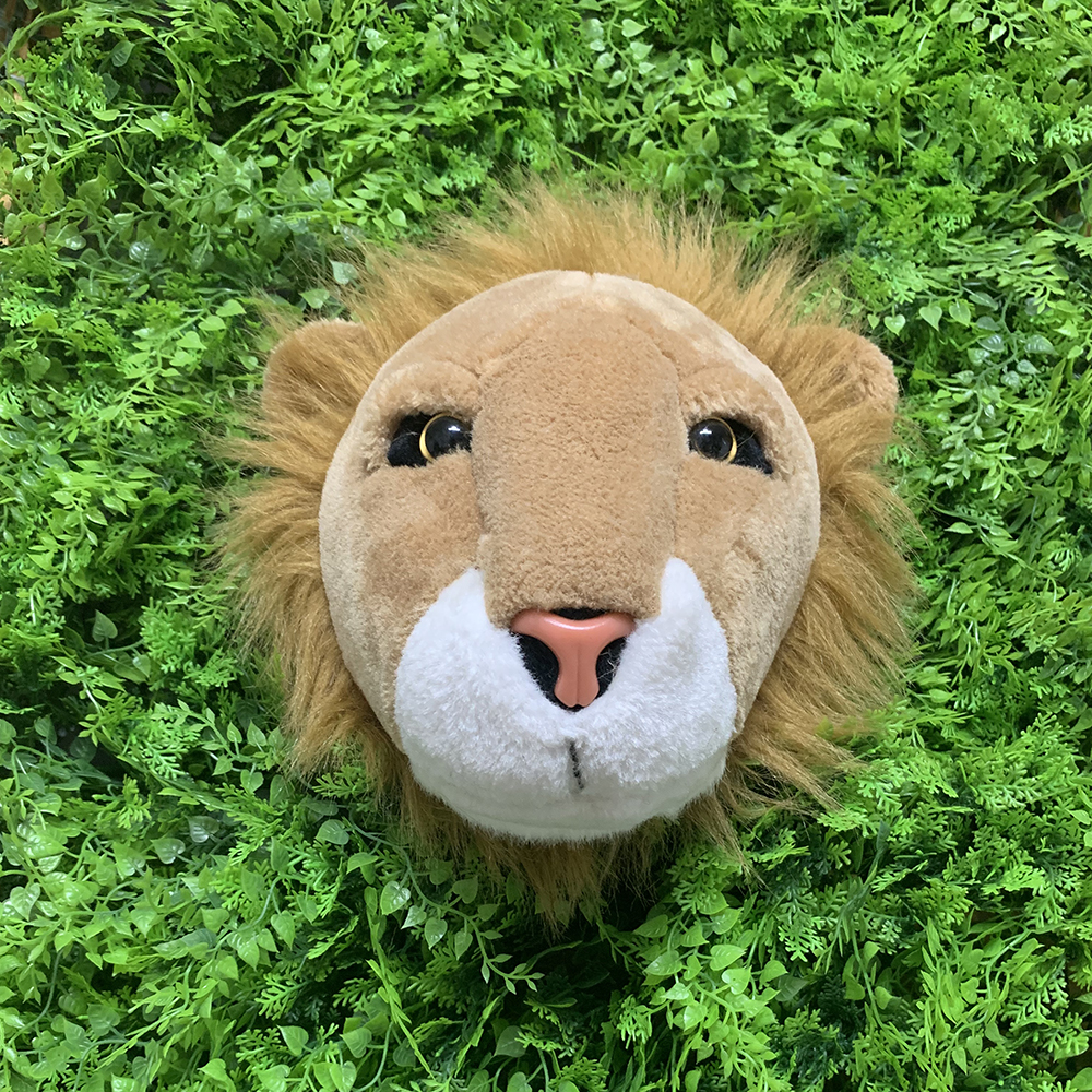 Image 3 - Most popular lifelike wall decoration lion shaped plush animal head toy-in Plush Wall Stuff from Toys & Hobbies