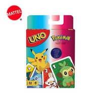 Mattel UNO-Juego de cartas de Pokémon, juego de mesa de entretenimiento familiar, cartas de póker, caja de regalo GTH24